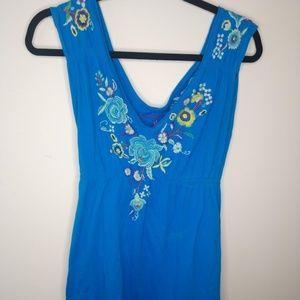 ⬇️$80 Johnny Was Sleeveless Dress BOHO Floral
